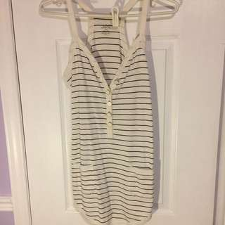 Joe Fresh Striped Buttoned Tank