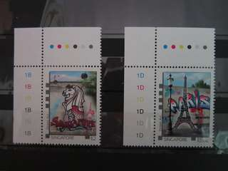 Singapore Stamps 2015 Singapore - France Street Art MNH