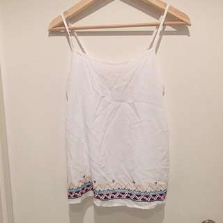 Embroidered White Shirt (worn Once)