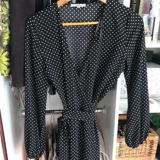Polkadot Wrap Dress