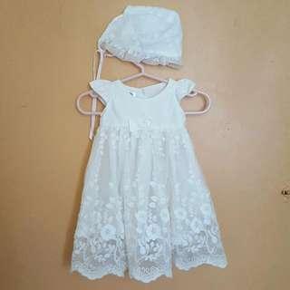 Little Blessing Lace Baptismal Dress