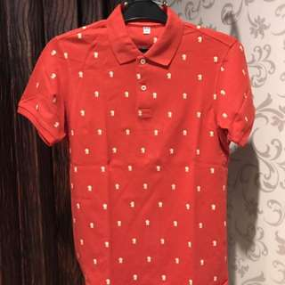 Uniqlo Red Polo Shirt