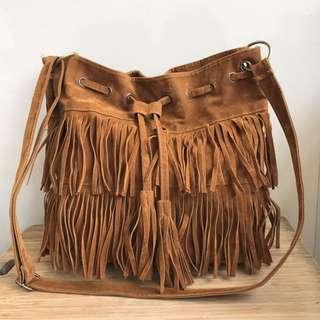 Cognac印地安民族風流蘇跨身包側背包