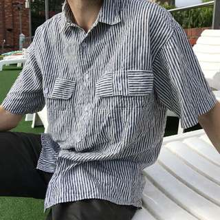 Men's Linen Striped Shirt