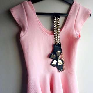 Pink Top With Waist Belt