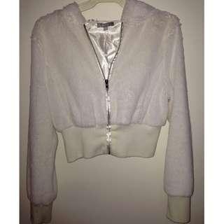 White minc bomber style jacket