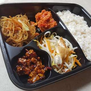 Cherish Lunch Box - Nasi Rames Telor