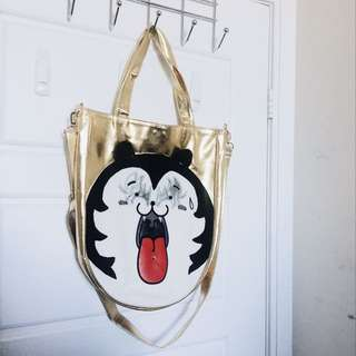 Metal Cat Gold Bag