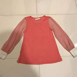 Cotton Ink Salmon Long Sleeve Top, Like New!