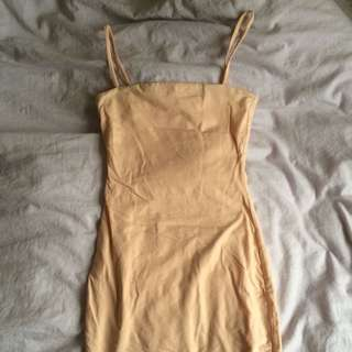 Kookai Midi Dress Size 1 Melon
