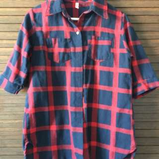 Red/Blue Checkered Fannel Shirt