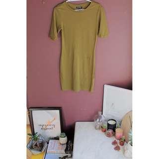 Khaki Body Dress - TOPSHOP