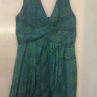 Zara Emerald Green Floral Dress