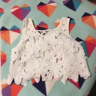 Brand New White Lace Crop
