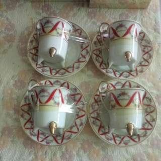 Vintage Teacups Set X 8pcs