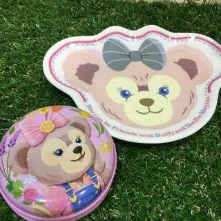 🚚 New!✨✨日本 迪士尼 卡通 人氣🏆雪莉玫 🐻陶瓷點心盤 🍎🍉🍓水果 蛋糕🍰🍞盤(也可以當飾品盤喔)
