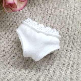 "[Pre-order] 12"" Fashion Doll Lace White Underwear For Blythe / Takara Licca / Takara Jenny / AZONE Doll / Barbie Doll etc..."