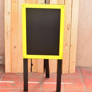 Chalkboard with stand Yellow frame