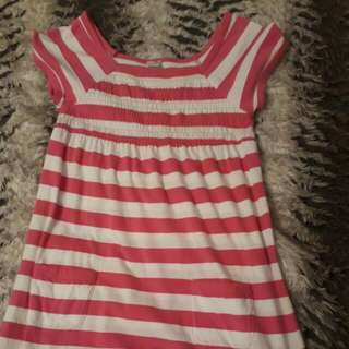 pink stripey dress