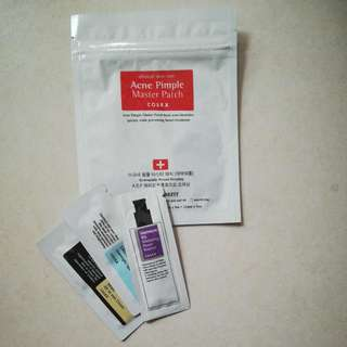 COSRX acne pimple master patch & samples