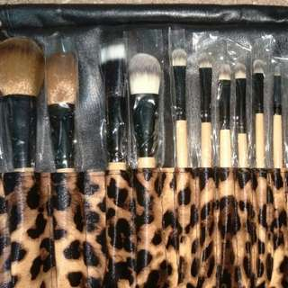 In stock 12pcs leopard brush set