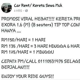 CAR RENTAL PROMOTION!!!