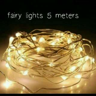 Free battery! 5m Fairy / Pixie / LED Battery Operated Lights