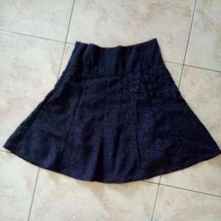 Purple Flower Motif Skirt