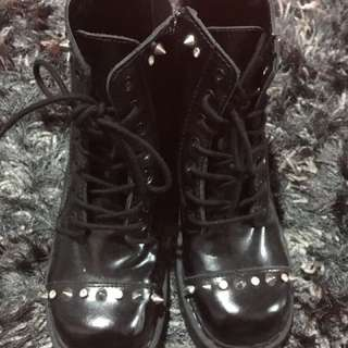 Brand New Studded Leather Boots