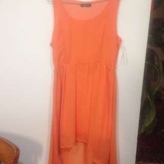 Orange Short To Long Dress