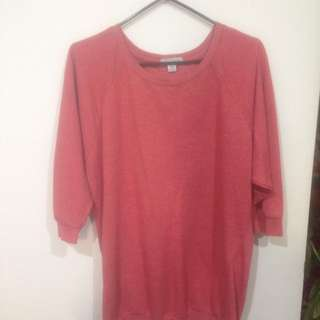 Pink-Maroon Short Sleeved Jumper