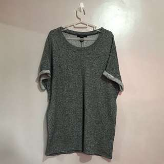 Forever 21 Gray Over Sized Top