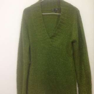 Green Wooly Jumper
