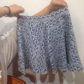 Tribal Patterned Mini Skirt