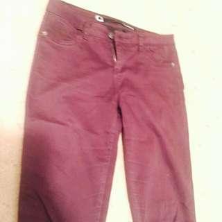 Dark Purple Rambler Size 10 Skinny Jeans