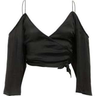 Bardot Silk Wrap Top