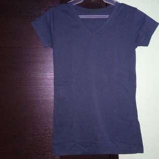 Plain Dark Blue T Shirt