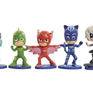 🍀 Authentic PJ Masks Collectible Figure Set (5 Pack)
