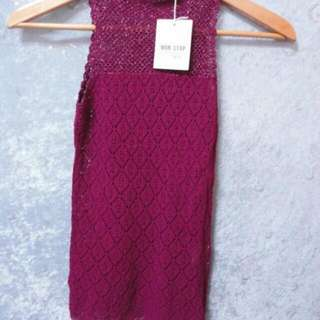 NON STOP~鑲金蔥編織設計背心針織衫~SIZE:F~原價1580