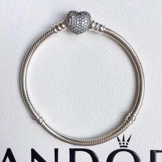 Pandora Pave Heart Bracelet