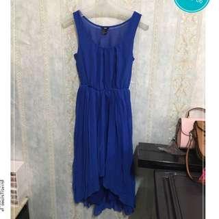 「二手近全新」H&M 寶藍色無袖長裙