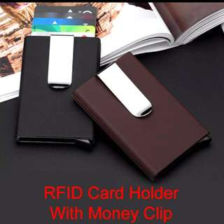[SALE 2 for $16] RFID Credit card holder case Business Card Wallet Accessories Men money clip holder smart wallet