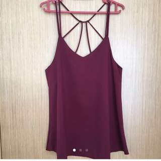 Sexy Back Top / Deep Red