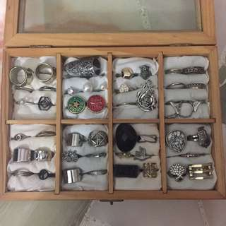 Box Of Vintage Rings