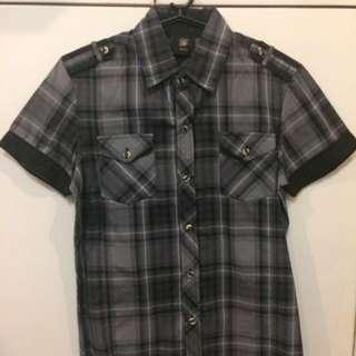 The Row:Solo Black Polo Short Sleeves