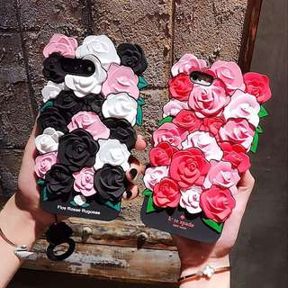 Ready Stock Silicone Rose iPhone Casing