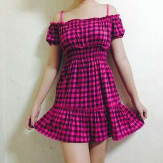 REPRICED! Checkered Dress