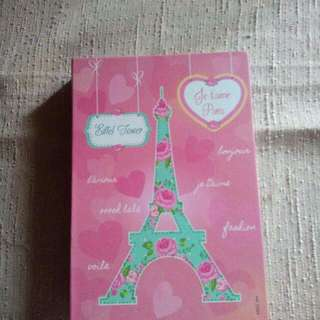 Eiffel Tower Binder Notebook