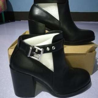 High Heel Open Work Ankle Boots