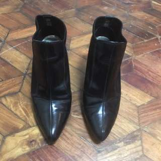 M&S Leather/Neoprene Ankle Booties
